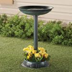 Lawn & Garden - Birdbath with Planter