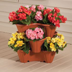 Lawn & Garden - Stackable Planters, Set of 3