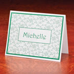 Memos, Notepads & Cards - Personalized Shamrock Note Cards Set of 25