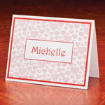 Memos, Notepads & Cards - Personalized Heart Note Cards Set of 25