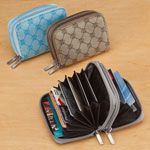 Handbags & Wallets - Jacquard Accordion RFID Wallet