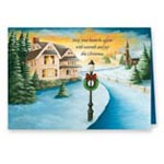 Sale - Winter Path Non Personalized Christmas Card Set of 20