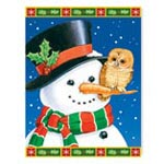 Holidays & Gifts - Snowman and Owls Non Personalized Christmas Card Set of 20