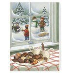 Sale - Sweet Greetings Non Personalized Christmas Card Set of 20