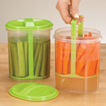 Food Storage - Two-Section Veggie Holder, Set of 2