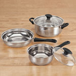 Bakeware & Cookware - 5 Pc. Stainless Steel Cookware Set