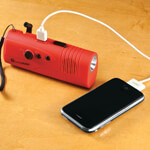 New - LivingSURE™ Deluxe Emergency Flashlight Radio