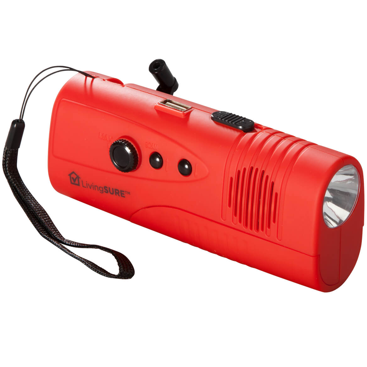 LivingSURE™ Emergency Flashlight Radio Deluxe-351493