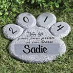 Pets - Personalized Paw Print Memorial Stone