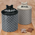 New - Personalized Ceramic Pet Treat Jar