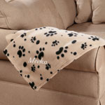 New - Personalized Paw Print Pet Blanket