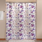 New - Violet Floral Shower Curtain