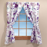 New - Violet Floral Window Curtain