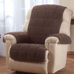 Accent Furniture - Waterproof Quilted Sherpa Recliner Protector by Oakridge Comforts®