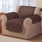 Waterproof Quilted Sherpa Chair Cover by OakRidge, Mocha
