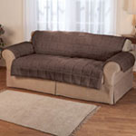 Accent Furniture - Waterproof Quilted Sherpa Loveseat Protector by Oakridge Comforts®