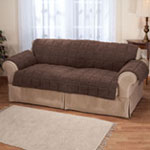 Accent Furniture - Waterproof Quilted Sherpa Sofa Protector by Oakridge Comforts®