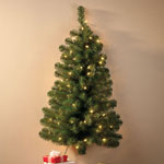 Decorations & Storage - 3-Foot Wall Tree with 50 Lights
