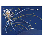 Christmas Cards - Satin Star of Bethlehem Personalized Christmas Card - Set of 20