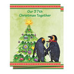 Secular - Our Years Together Personalized Christmas Card - Set of 20