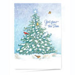 View All Christmas Cards - God Grew the Tree Personalized Christmas Card - Set of 20