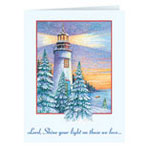 Christmas Cards - Lord Shine Your Light Personalized Christmas Card - Set of 20