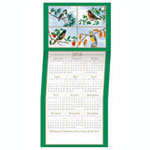 Secular - Four Seasons 2016 Calendar Personalized Christmas Card - Set of 20
