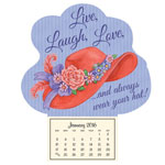"New - Red Hat ""Live, Laugh, Love"" Mini Magnetic Calendar"