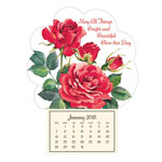 "New - ""Roses in Bloom"" Mini Magnetic Calendar"