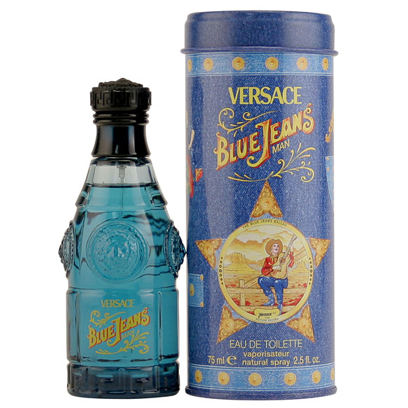 Blue Jeans by Versace, EDT Spray Blue Jeans by Versace is a casual, yet classy and ageless fragrance. This men's fragrance is timeless and truly a must-have for the sophisticated man. It's a fresh and an airy cocktail of citrus fruits, woods and spices that blend together to give out an intoxicating fragrance. It maintains its freshness for the whole day while it's invigorating scent keeps you on your toes. This men's perfume is innocent yet sophisticated, fun yet strong, cool yet warm and intense.; top notes of anise, basil, bergamot, cocobolo and lemon, middle notes of geranium, heliotrope, jasmine, lavender, lily and sage and base notes of amber, iris, musk, patchouli, tonka bean and vanilla. An EDT spray. 2.5 fl. oz. No express shipping. Please allow 3-4 weeks delivery time. No shipping to PO boxes.