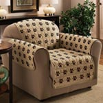 Accent Furniture - Paw Print Chair Cover