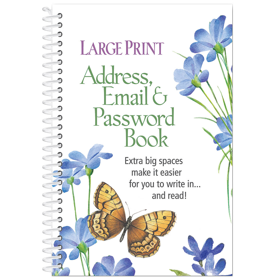 Large Print Address, Email & Password Book-352395