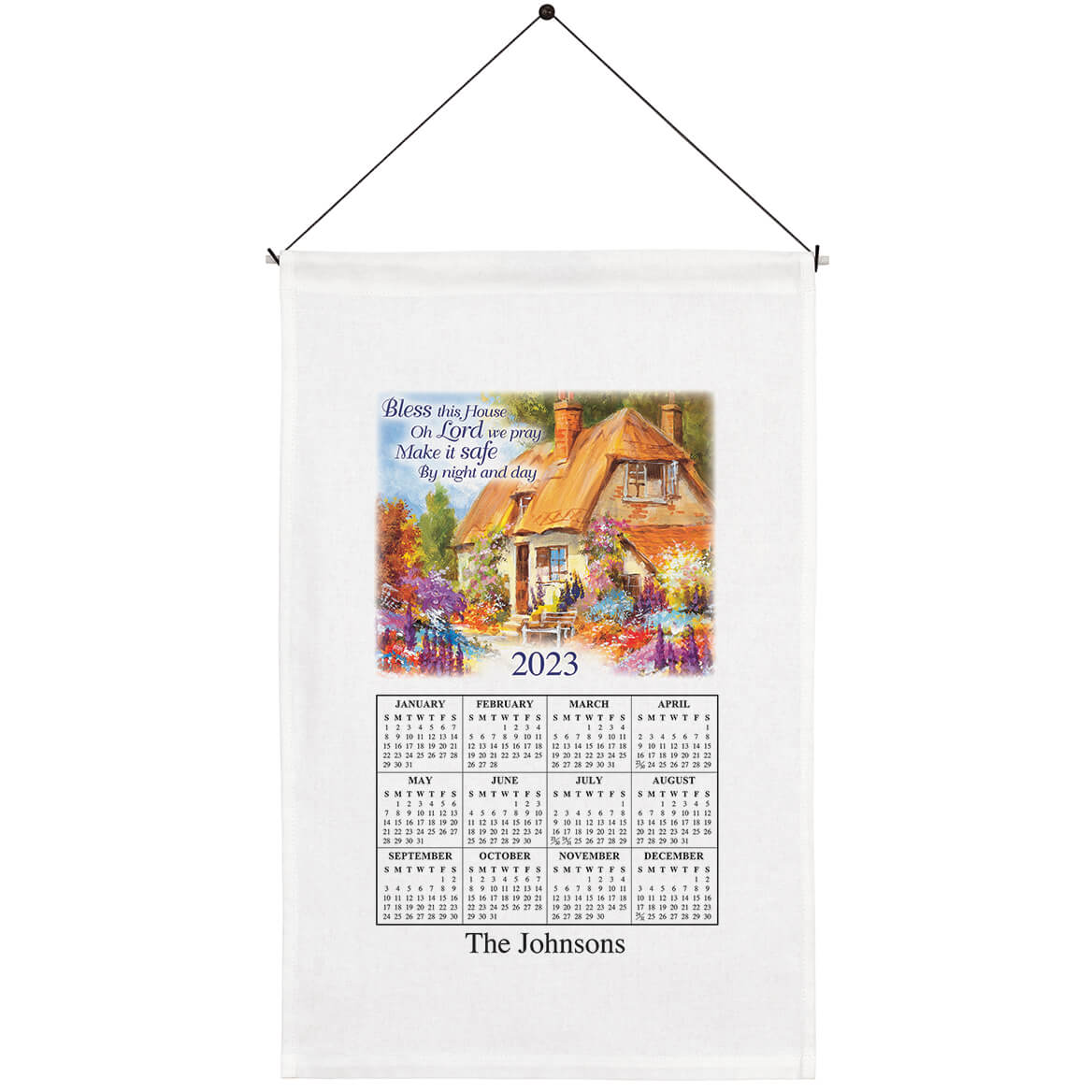 """""""Bless This House"""" Personalized Calendar Towel-352467"""