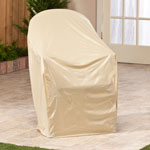 "Chair Cover, 34"" x 33"", Beige"