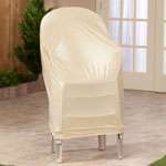 "Stacking Chair Cover, 24"" x 35"", Beige"