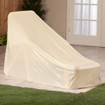Outdoor Décor - Beige Chaise Cover