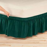 Wrap Around Elastic Bed Skirt, Twin/Full, Chocolate