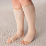 Comfort Clothing - Stirrup Compression Stockings with Gel, 15–20 mmHg