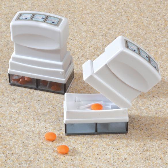 Pill splitter storage set of 2