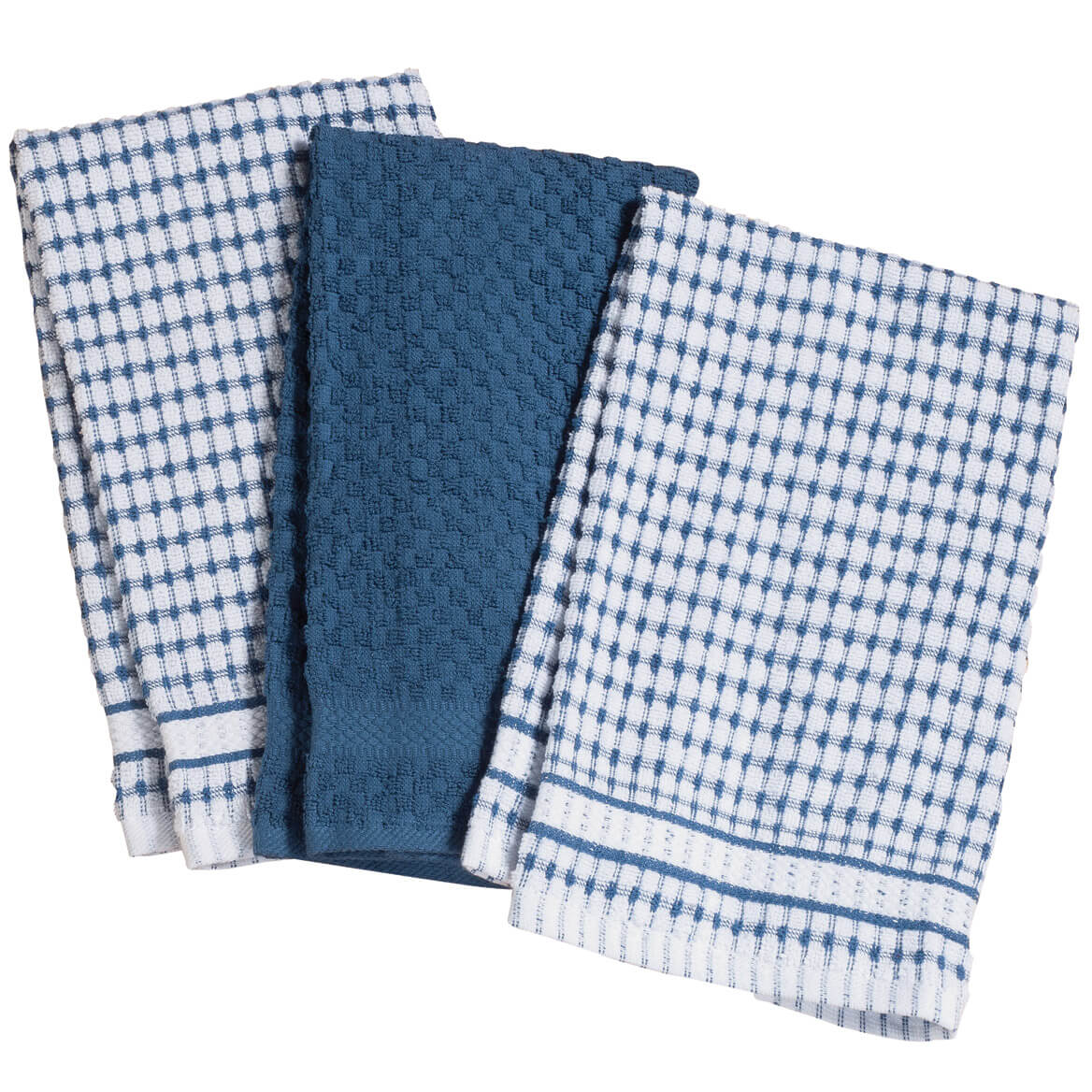 Terry Kitchen Towels, Set of 3 - Cotton Towels - Walter Drake