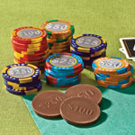 New - Milk Chocolate Mixed Casino Chips