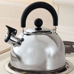 Stainless Steel Whistling Tea Kettle, Silver