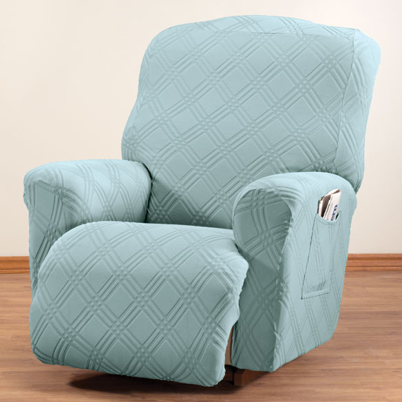 Double diamond stretch recliner cover chair cover walter drake