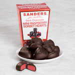 Gifts for All - Sanders Dark Chocolate Mini Raspberry Sorbet Hearts