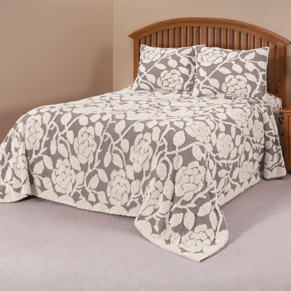 The caroline chenille bedding sets chenille bedding for Chenille bedspreads