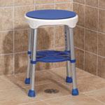 Compact Swivel Stool, Blue