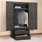 Clothing Wardrobe with Magnetic Doors XL, Grey