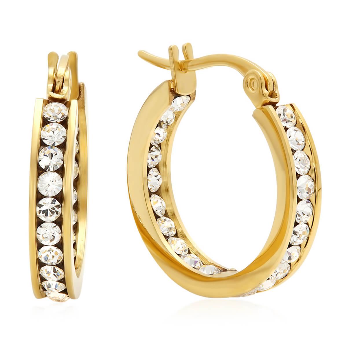 Swarovski Elements Hoop Earrings-354182