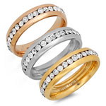 Jewelry & Accessories - CZ Eternity Band Rings, Set of 3