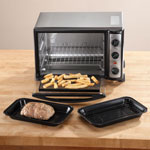 Toaster Oven Roasting Pans Set of 3 by Home-Style Kitchen